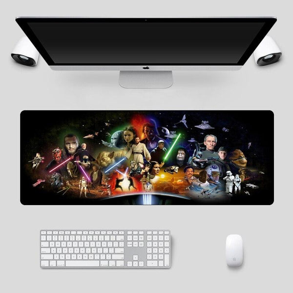 Star Wars Collection - Large Durable 80x30cm Rubber Gaming Mousepad - Giant Mouse Pad Store