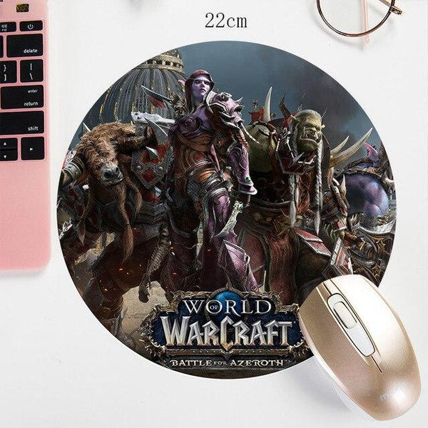 WOW World Of Warcraft Round Gaming Mouse 22X22CM
