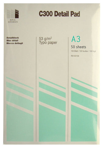 A3 Tracing Pad - 53gsm/50 sheets/C300
