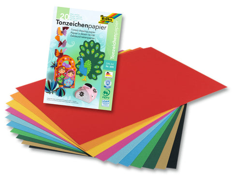 A4 Coloured Paper - Pad x 20 sheets/10 Assorted Colours