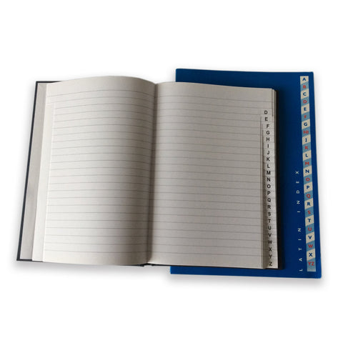 A5 Index Book A/Z - Laminated Cover/Ruled