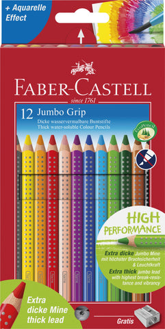 Grip Colour Pencils JUMBO - Pkt x 12 Asstd Cols