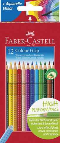 Grip Colour Pencils - Pkt x 12 Assorted Colours