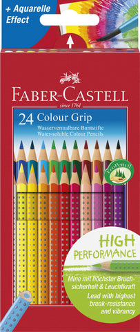Grip Colour Pencils - Pkt x 24 Assorted Colours