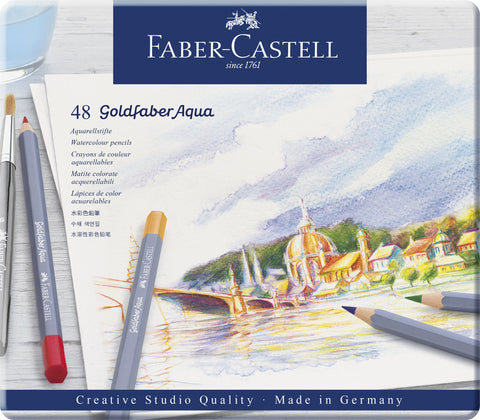 FC - Goldfaber Aqua Watercolour pencils - Tin x 48 Asstd Cols