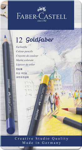 FC - Goldfaber Colour Pencils - Tin x 12 Asstd Cols