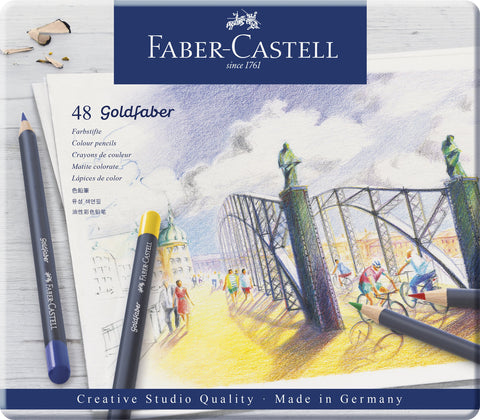 FC - Goldfaber Colour Pencils - Tin x 48 Asstd Cols