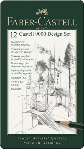 Castell 9000 Design Set - Tin x 12 Asstd Grades