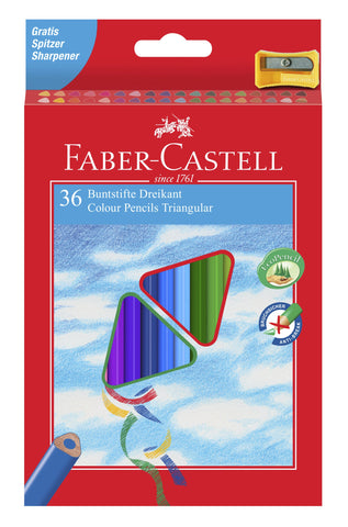 Colouring Pencils Triangular - Pkt x 36 Asstd Cols
