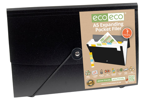 Expanding File A5 ECO - 7 Pocket/Black