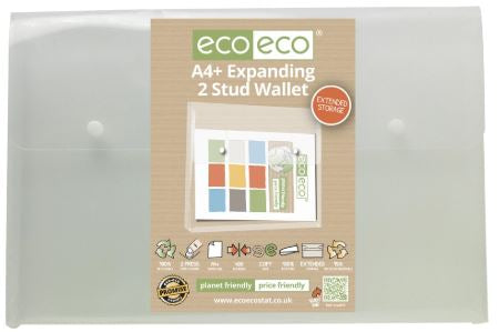 Expanding 2 Button Wallet A4 ECO - White