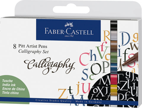 FC - Pitt Artist Pens - Calligraphy/Wallet x 8 Assorted Set