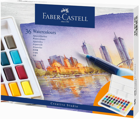 FC - Water Colour Sketcher's Box - Set x 36 colours
