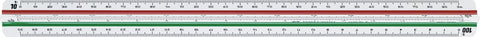Reduction Scale Ruler - F/1:2.5/1:5/1:10/1:20/1:50/1:100