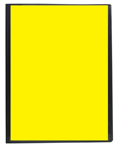 Eco-friendly Presentation Display Book - A4/20pgs/40viewing - Yellow Front