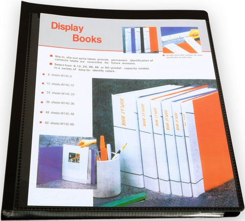 A4 Display Book - 48pgs/96 viewing - Black