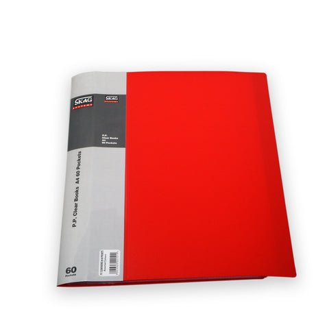 A4 Display Book - 60pgs/120 viewing - Red