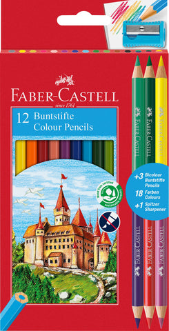 Colouring Pencils Triangular - Pkt x 12 Asstd Cols