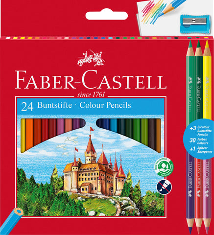 Colouring Pencils Triangular - Pkt x 24 Asstd Cols