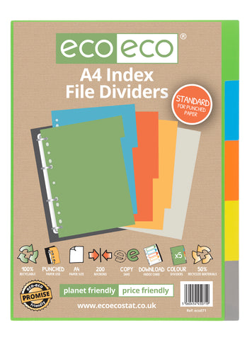 Dividers A4 Standard ECO - Set x 5 Index File