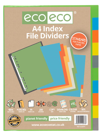 Dividers A4  Standard  ECO - Set x 10 Index File