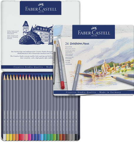 FC - Goldfaber Aqua Watercolour pencils - Tin x 24 Asstd Cols
