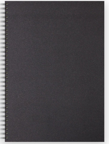 Sketch Book Spiral Soft Touch - Black Cover/150gsm/A3 Portrait/40 sheets