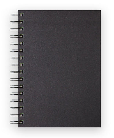 Sketch Book Spiral Soft Touch - Black Cover/150gsm/A5 Portrait/40 sheets