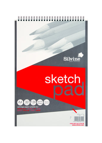 Drawing/Sketch Pad Spiral - 130gsm/A4/30 sheets/Smooth Cartridge Paper SV