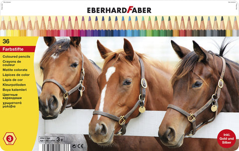 Colouring Pencils - Animal Motif Tin x 36 Asstd Cols