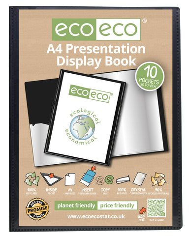 Presentation Display Book A4 ECO - 10pgs/20viewing - Black