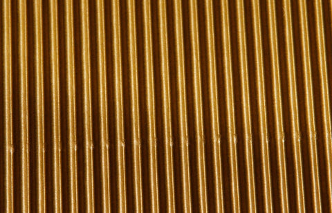 Corrugated Sheet 50 x 70 - Eflute/double sided print - Gold