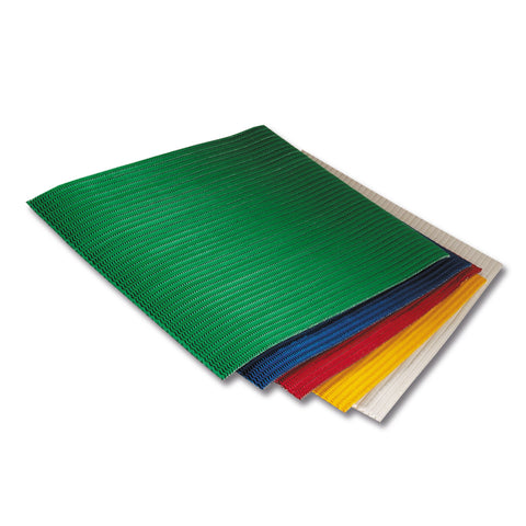 Corrugated Sheet 35 x 50 - Stretch/Wave form/double sided print - Asstd Cols