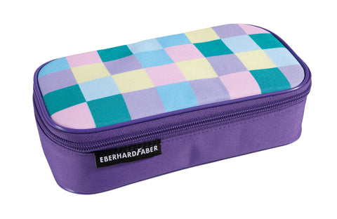 Checked Pattern Pastel -  Pencil Case Jumbo Empty