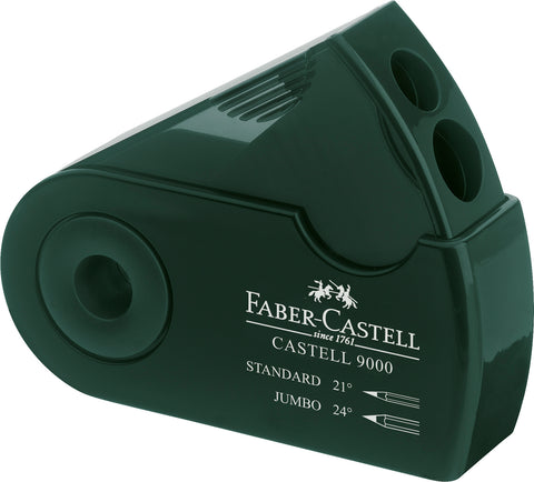 Sharpener Double Hole Sleeve - Castell 9000 Standard and Jumbo Graphite Pencils