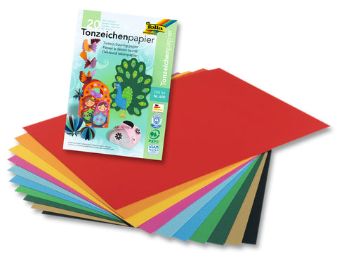 A4 Coloured Paper - 130gsm/20 sheets/Pad x 10 Assorted Colours