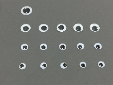 Googly Eyes - Assorted Packet (8 x 15mm/4 x 20mm/8 x 12mm)