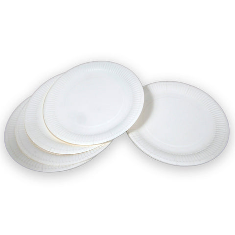 Paper Plate Large - 23cm/White