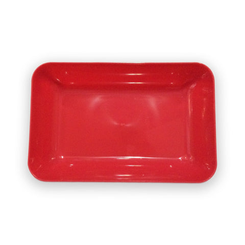 Plastic Tray for Crafts - Red