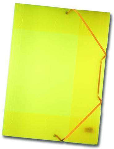 Elasticated Portfolio A3 - Frost Yellow