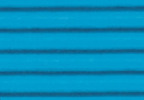 Corrugated Sheet 50 x 70 - Eflute/double sided print - Pacific Blue