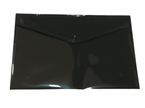 Plastic Envelope File With Button A5 ECO - Black