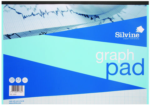 A3 Heavyweight Graph Pad - Unpunched Graph Paper - 1/5/10mm