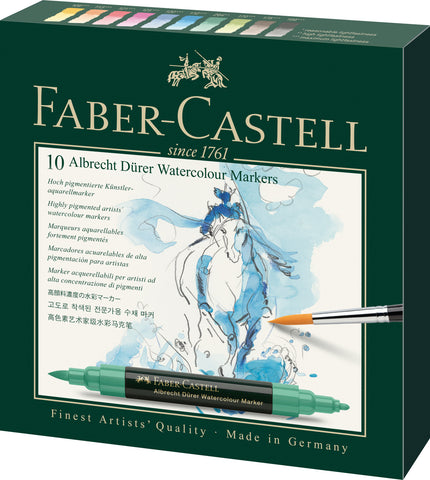 FC - A Duerer Water Colour Markers - Carton Wallet x 10 Assorted Colours