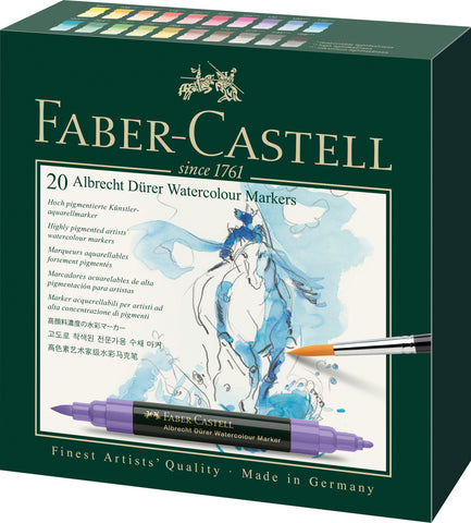 FC - A Duerer Water Colour Markers - Carton Wallet x 20 Assorted Colours RRP Euro 80.00
