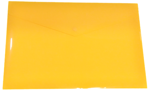 Plastic Envelope File With Button A4 ECO - Yellow