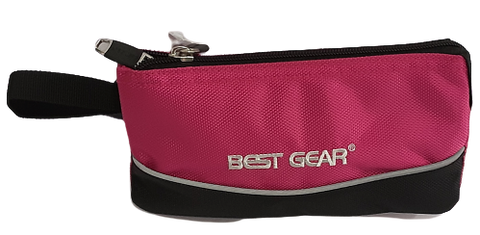 Best Gear Pencil Case Black base w/Pink