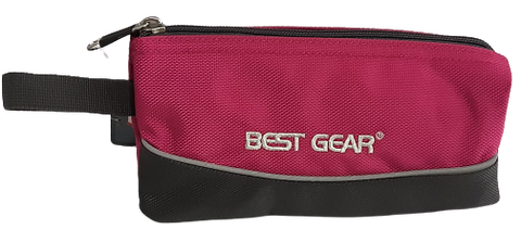Best Gear Pencil Case Charcoal base w/Pink
