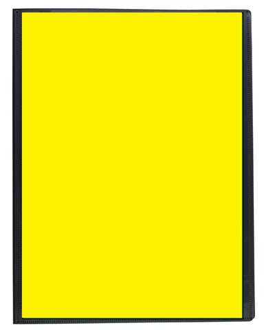 Presentation Display Book A4 ECO - 20pgs/40viewing - Yellow Front