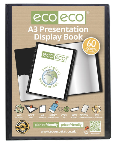Presentation Display Book ECO - A3/60pgs/120 viewing - Black